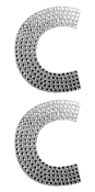 "2 PC 4"" RHINESTONE STICKERS-#C (24 PACKS) PF-4460"