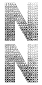 "2 PC 4"" RHINESTONE STICKERS-#N (24 PACKS) PF-4471"