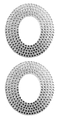 "2 PC 4"" RHINESTONE STICKERS-#O (24 PACKS) PF-4472"