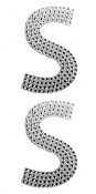 "2 PC 4"" RHINESTONE STICKERS-#S (24 PACKS) PF-4476"