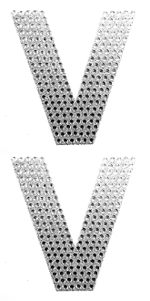 "2 PC 4"" RHINESTONE STICKERS-#V (24 PACKS) PF-4479"