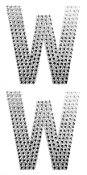 "2 PC 4"" RHINESTONE STICKERS-#W (24 PACKS) PF-4480"