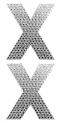 "2 PC 4"" RHINESTONE STICKERS-#X (24 PACKS) PF-4481"