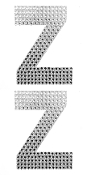 "2 PC 4"" RHINESTONE STICKERS-#Z (24 PACKS) PF-4483"