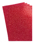 "4 PC 8""X12"" GLITTERED EVA FOAM SHEETS-RED (24 PACKS) PF-4344"