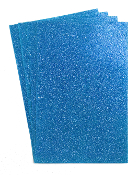 "4 PC 8""X12"" GLITTERED EVA FOAM SHEETS-BLUE (24 PACKS) PF-4346"