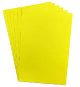 "6 PC 8""X12"" EVA FOAM SHEETS-YELLOW (24 PACKS) PF-4341"