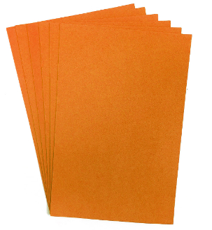 "6 PC 8""X12"" EVA FOAM SHEETS-ORANGE (24 PACKS) PF-4337"