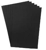 "6 PC 8""X12"" EVA FOAM SHEETS-BLACK (24 PACKS) PF-4343"