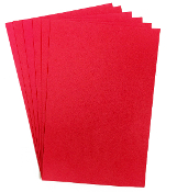 "6 PC 8""X12"" EVA FOAM SHEETS-RED (24 PACKS) PF-4336"