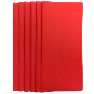 "6PC 12""X12"" NON WOVEN SHEETS-RED (24 PACKS) PF-4545"