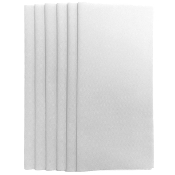 "6PC 12""X12"" NON WOVEN SHEETS-WHITE (24 PACKS) PF-4552"