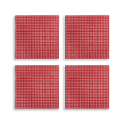"4 PCS 4.25"" PLASTIC SQUARE CANVAS - RED (24 PACKS) PF-4517"