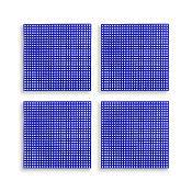 "4 PCS 4.25"" PLASTIC SQUARE CANVAS - BLUE (24 PACKS) PF-4519"