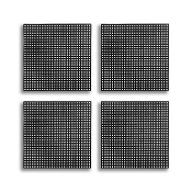 "4 PCS 4.25"" PLASTIC SQUARE CANVAS - BLACK (24 PACKS) PF-4520"