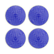 "4 PCS 4.5"" PLASTIC ROUND CANVAS - BLUE (24 PACKS) PF-4524"