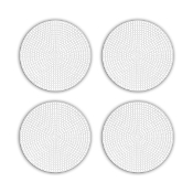 "4 PCS 4.5"" PLASTIC ROUND CANVAS - WHITE (24 PACKS) PF-4526"