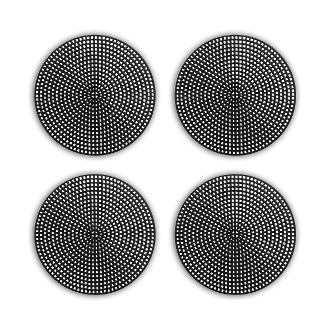 "4 PCS 4.5"" PLASTIC ROUND CANVAS - BLACK (24 PACKS) PF-4525"