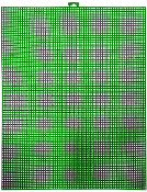 "10""X13"" PLASTIC CANVAS SHEET - GREEN (24 PACKS) PF-4528"