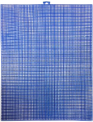 "10""X13"" PLASTIC CANVAS SHEET - BLUE (24 PACKS) PF-4529"