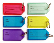 6 PCS LUGGAGE TAGS - ASSORTED (24 PACKS) PF-4602
