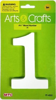 "4.5"" WOOD NUMBER - #1 (24 PACKS) PF-4553"