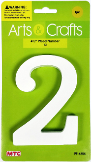 "4.5"" WOOD NUMBER - #2 (24 PACKS) PF-4554"