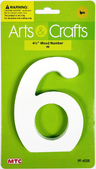 "4.5"" WOOD NUMBER - #6 (24 PACKS) PF-4558"