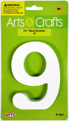 "4.5"" WOOD NUMBER - #9 (24 PACKS) PF-4561"