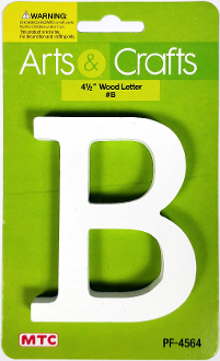 "4.5"" WOOD LETTER - B (24 PACKS) PF-4564"
