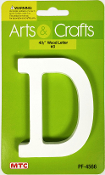 "4.5"" WHITE WOOD LETTER - D (24 PACKS) PF-4566"