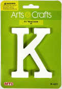 "4.5"" WHITE WOOD LETTER - K (24 PACKS) PF-4573"