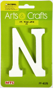 "4.5"" WOOD LETTER - N (24 PACKS) PF-4576"