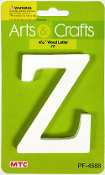 "4.5"" WOOD LETTER - Z (24 PACKS) PF-4588"
