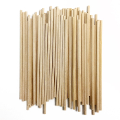 "60 PC 0.15"" X 6"" WOODEN DOWEL - NATURAL (24 PACKS) PF-3313"