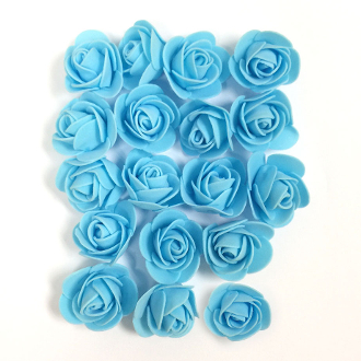 18 PCS 4 CM FOAM ROSES - LIGHT BLUE (24 PACKS) PF-4658