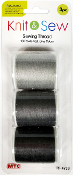 3 PC 150 YD SEWING THREAD-GREY SERIES (24 PACKS) PF-4739