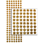 140 PCS FLOWER RHINESTONE STICKERS-GOLD (24 PACKS) PF-4730