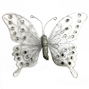 "8"" BUTTERFLY CLIP-SILVER (24 PACKS) PF-4692"
