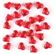 3 OZ GEM STONES - SMALL RED HEART (24 PACKS) PF-4350