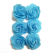 6 PCS 5 CM FOAM ROSES - LIGHT BLUE (24 PACKS) PF-4659