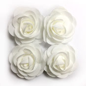 4 PCS 8 CM FOAM ROSES - WHITE (24 PACKS) PF-4660