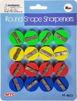 16 PCS ROUND SHAPE SHARPENERS (24 PACKS) PF-4633