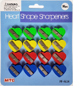 16 PCS HEART SHAPE SHARPENERS (24 PACKS) PF-4634
