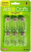 6 PC 8 ML GLASS BOTTLES (24 PACKS) PF-4612