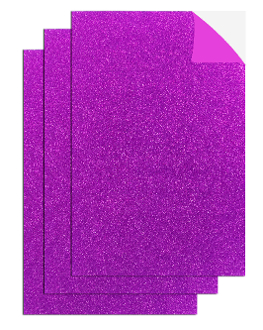 "3PC 8""X12"" ADHESIVE GLITTERED EVA SHEETS-MGNT (24 PACKS) PF-4708"