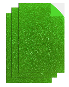 "3PC 8""X12"" ADHESIVE GLITTERED EVA SHEETS-GREEN(24 PACKS) PF-4710"