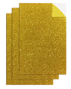 "3PC 8""X12"" ADHESIVE GLITTERED EVA SHEETS-GOLD (24 PACKS) PF-4711"