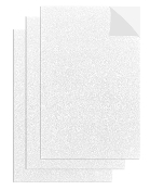 "3PC 8""X12"" ADHESIVE GLITTERED EVA SHEETS-WHITE(24 PACKS) PF-4713"