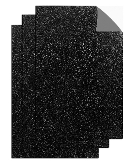 "3PC 8""X12"" ADHESIVE GLITTERED EVA SHEETS-BLACK(24 PACKS) PF-4714"